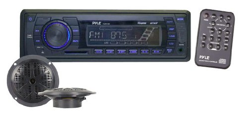 Pyle PLMRKT12BK In-Dash Marine AM/FM PLL Tuning Radio with USB/SD/MMC Reader