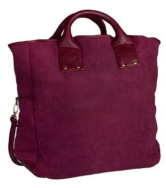 """SIX """"Russet"""" große, rote Tasche mit Fellfutter, Lederdetails und abnehmbarem Riemen (320-414)"""