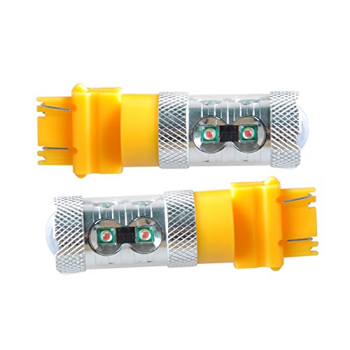 Suparee 2Pcs High Power Amber 50W 3156 3157 Fit For Chip Led Lights Bulbs Source For Blinker Turn Signals Drl Day Time Running Lights/Lighting