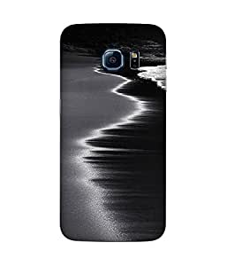 Black And White Waves Samsung Galaxy S6 Case