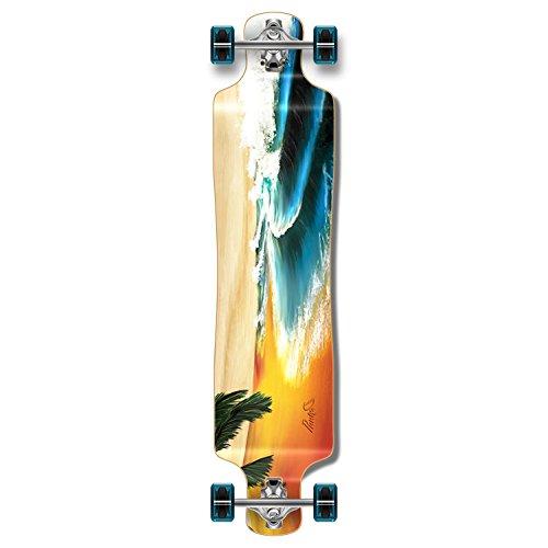 Punked Lowrider Drop down through Longboard Complete skateboard (Beach)