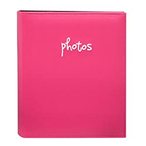 "KVD Kleer-Vu Deluxe Albums, Jensen Collection, holds 48 6""x8"" photos, 1 photo per page Black pages inside, Pink"