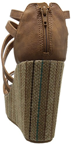 Volcom Women's Getting Around Wedge Sandal, Cognac, 8 M US