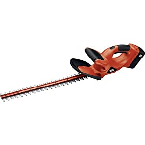 Black & Decker NHT524 24 Volt 24-Inch Cordless Electric Dual Action Hedge Trimmer With One Battery