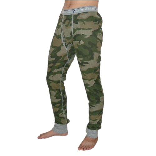 Mens American Eagle Knit Army Camo Long Johns / Thermal Ski Under-Pants