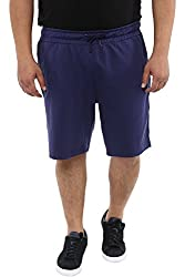 Alto Moda by Pantaloons Mens Regular Fit Shorts Navy 3