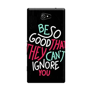 Digi Fashion Designer Back Cover with direct 3D sublimation printing for Sony Xperia M2