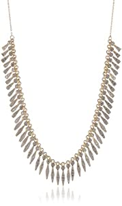 """18k Yellow Gold Plated Sterling Silver Two-Tone Multi-Drop Necklace, 18+2"""" Extender"""