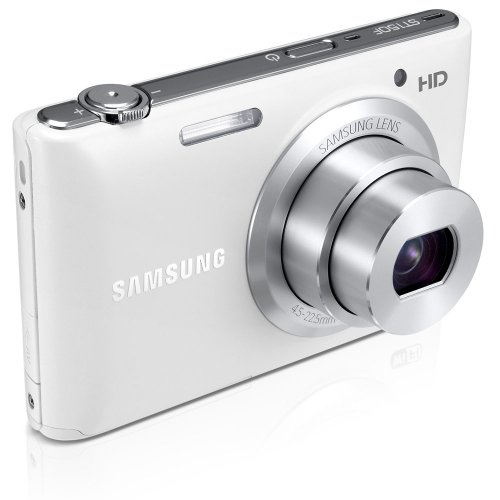 Samsung ST150F 16.2MP Smart WiFi Digital Camera with 5x Optical Zoom and 3.0″ LCD Screen (White) (OLD MODEL)