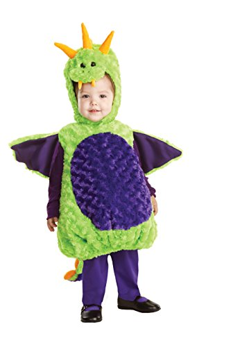 Underwraps Baby'S Dragon Belly-Babies, Green/Purple, X-Large