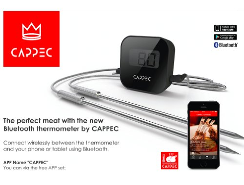 Cappec's Bluetooth Wireless BBQ Thermometer – Smoker Friendly image