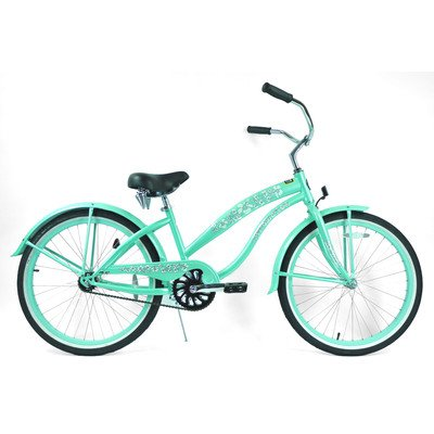 Women's Single Speed Beach Cruiser Frame Color: Mint Green
