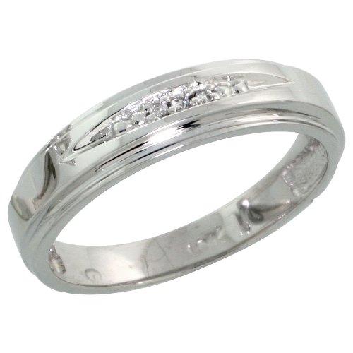 discount deals 10k white gold wedding band