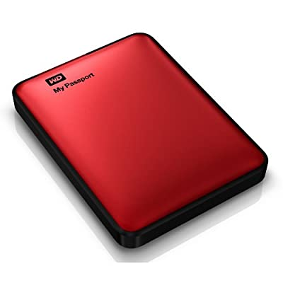 WD My Passport 1TB Portable External Hard Drive Storage USB 3.0 Red (WDBBEP0010BRD-NESN)