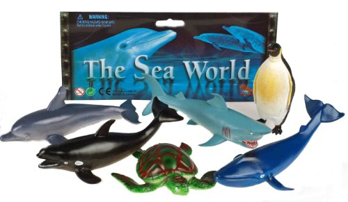 sea-world-set-of-6-plastic-animal-figures-shark-penguin-whale-turtle-dolphin-orca-by-kandy