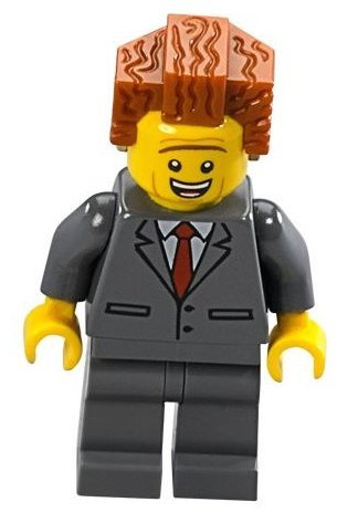The LEGO Movie - President Business Minifigure with dual-sided face from set 70818