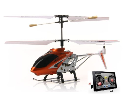 3-Channel RC Helicopter Compatible with iPhone, iPad, iPod Infrared Remote Controller (Red)