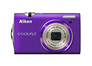 Nikon Coolpix S5100 12 MP Digital Camera with 5x Optical Vibration Reduction (VR) Zoom and 2.7-Inch LCD (Purple)