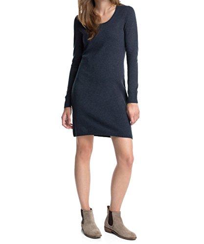 edc-by-esprit-damen-t-shirt-kleid-sweaterdress-mini-einfarbig-gr-38-herstellergrosse-m-blau-deep-ind