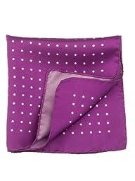 Elizabetta Men\'s Designer Italian Silk Fashion Pocket Square Handkerchief,Luigi Purple