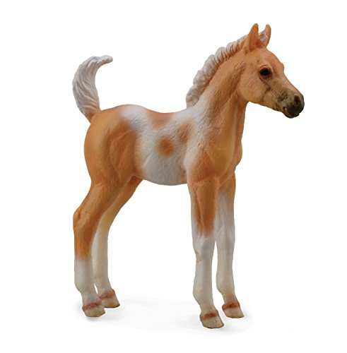 Collect A Horses Pinto Foal Standing Palomino Toy Figure - 1