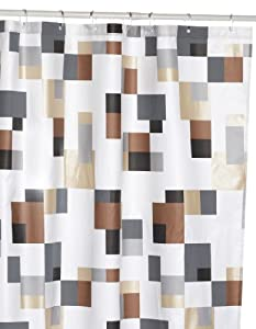 Designer Shower Curtains Fabric Modern Grey and Yellow Showe