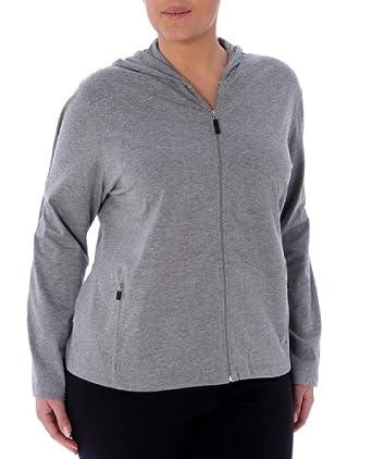 Buy Danskin Ladies Plus Cotton Zip Hoodie by Danskin
