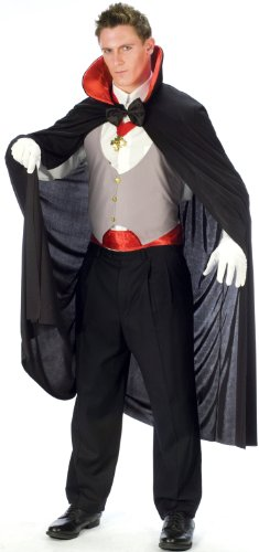 FunWorld Complete Vampire, Black/White/Red, One Size Costume
