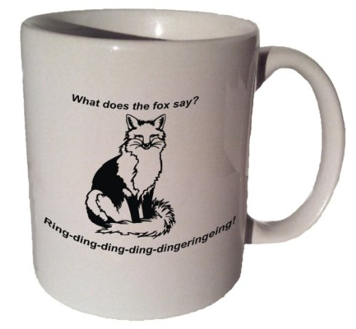 What Does The Fox Say Coffee Tea Ceramic Mug 11 Oz