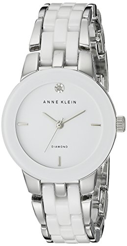 anne-klein-womens-north-classics-quartz-watch-with-white-dial-analog-display-and-silver-ceramic-brac