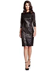 Per Una Speziale Sequin Embellished Panelled Shift Dress