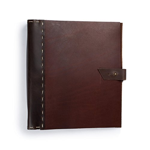 Rustico Leather Binder 3 ring, Photo Album - Scrapbook Style Pages (Football Scrapbook Album compare prices)