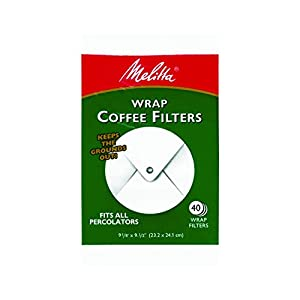 Melitta USA Inc 627402 White Wrap Coffee Filter