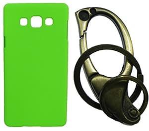 XUWAP Hard Case Cover With Matallic KeyChain For Samsung Galaxy Z3 - Green