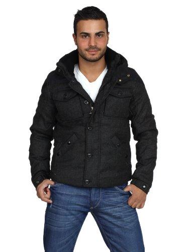 GOV-DENIM Men Winter Jacket Black