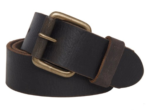75425 Timberland Mens Milled Genuine Leather Belt (34, Dark Brown)