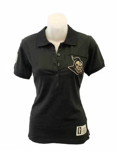 NCAA Central Florida Golden Knights Women's Collar Scholar Polo Shirt, Black, Large (Central Florida Patch compare prices)