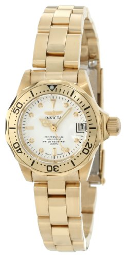 Invicta Womens Diver Collection Gold Tone