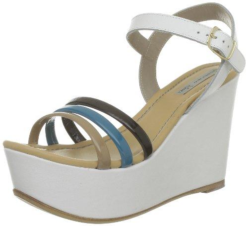 Tosca Blu Shoes - Sandali Ss1307S121, Donna, Bianco (Blanc (C37S Turchese/Sabbia)), 39