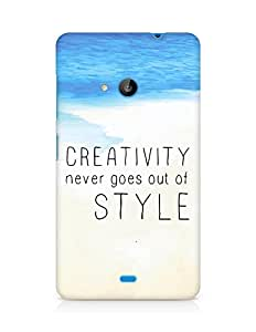 AMEZ creativity never goes out of style Back Cover For Microsoft Lumia 535