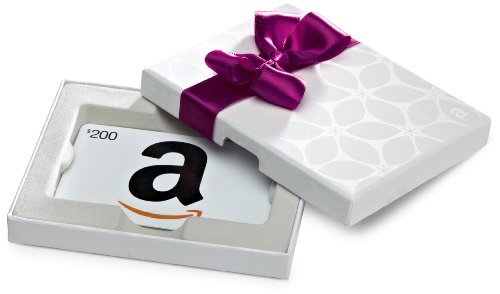 Amazon.com White Gift Card Box - $200, White Card