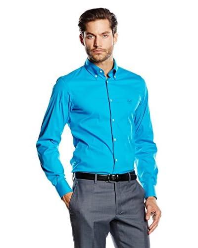 Versace 1969 Abbigliamento Sportivo Srl Camisa Hombre Turquesa
