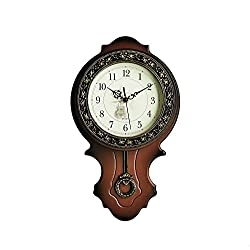 9.8''×17'' Foxtop Large Light-weight Living Room European-style Wall Clock Antique Clocks Mute Modern Fashion Creative Quartz Wall Clock Pendulum