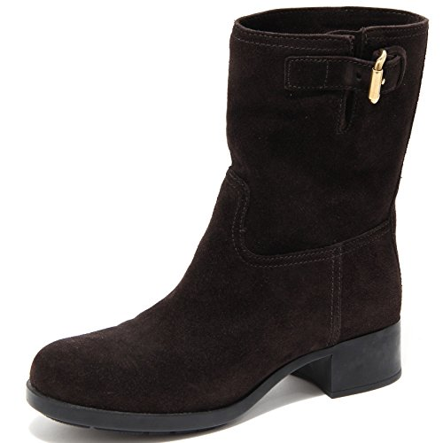 61943 brown stivaletto PRADA stivale donna boots shoes women [36]