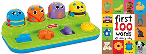 Baby-Brilliant-Basics-Boppin-Activity-Bugs-First-100-Words-Toy-for-Kids-2-Pack