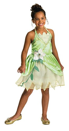 Girls Princess Tiana Classic Kids Child Fancy Dress Party Halloween Costume