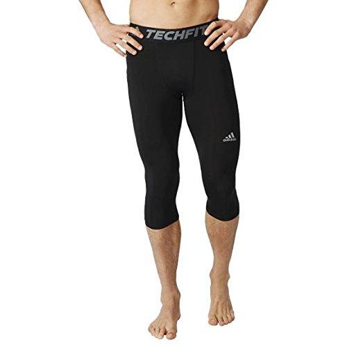 adidas formazione collant Techfit Base uomo 3/4 pantaloni della tuta collant Nero nero M