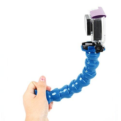 SUNSKY TMC 7 Joint 360 degrés de rotation du cou réglable pour GoPro Hero 4 / 3+ / 3/2/1 Flex Support de fixation ( Color : Blue )
