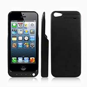 LIYING New Power Bank for Iphone 5 2000mah External Extended High Capacity Portable Spare Battery Power Pack Emergency Charging Charger Case / Cover - Black