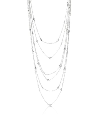 Cz by Kenneth Jay Lane 7Rows Stats Classic Necklace